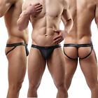 Sexy Mens Boxers Thongs Underwear Faux Leather Jockstrap G-string Short Pants