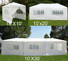 10' 20' 30' White outdoor Wedding Party Tent patio Gazebo Canopy Events