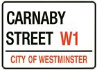 New Carnaby Street London Street Sign Metal Tin Sign