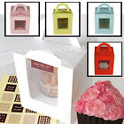 New Cupcake Boxes 1 Cup Cake Clear Window Box with Removable Inserts - FREE P&P