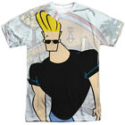 Johnny Bravo Hanging Out Licensed Sublimation Poly Adult Shirt S-3XL