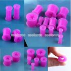 Pick Gauge 6g-1/2 Star Purple Flexible Silicone Flared Ear Tunnel Plug Stretcher