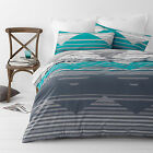 Chevron Zig Zag Teal  Quilt / Doona Cover Set All Sizes NEW 30 - 40% off RRP