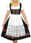 DIRNDL Trachten Oktoberfest Dress EMBROIDERED German 3 Pcs LONG Party Waitress