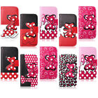 New Fashion Pink Sweet Bow Flip Leather Wallet Pouch Stand Skin Soft Case Cover