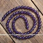 4-14mm Strand Point Amethyst Gemstone Quartz Round Ball Gems Loose Beads 15.5L