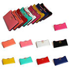 New Women's Clutch Wallet Long PU Card Purse Handbag Soft-leather Bowknot