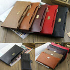 New Women Leather Zipper Long Bifold Wallet Slim Purse Credit Card Holder Clutch