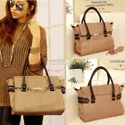 New Women Faux Leather Large Tote Lady Handbag Messenger Shoulder Bag S0BZ