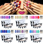 8 Bottle Elite99 Soak Off UV LED Nail Art Gel Polish Top Base Coat Manicure Gift