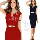 Womens Celeb Keyhole Tunic Business Work OL Cocktail Party Sheath Shift Dress
