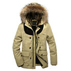 New WY0019 Hot Sale Mens Warm thick cotton padded fur collar Hooded Winter Coat