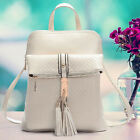 New ZF0040 Fashion Leather Travel Satchel Shoulder Bag Backpack School Rucksack