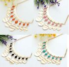 1 Pc Alloy And Resin Colorful Beads Chain Necklace A1258