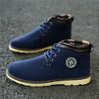 Mens Winter Warm Casual Leather High Top Loafers Shoes Ankle Boots Sneakers T246