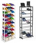 10 Tier Shoe Rack Shelf Organiser Shelves Stand Heels Trainers Storage