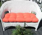 ROBERT ALLEN FABRIC IN / OUTDOOR WICKER LOVESEAT SETTEE CUSHION - SOLID COLORS