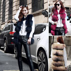 HOT POP Women Real Farm Raccoon Fur Vest  Long Waistcoat Unique Sleeveless Gilet