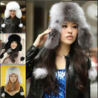 Crazy Real Genuine Fox Fur Hat Cap Headwear Women Warm Winter Bomber Ushanka