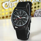 Men's Casual Sport Textile Fabrics Band Quartz Wristwatch 2 Color New