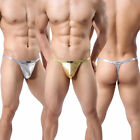 Sexy Mens Underwear Thong G-String Shining Spandex Panties Boxers T-back M L XL