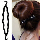 Womens Magic Hair Twist Styling Clip Stick Bun Maker Braid Tool Hook Bud Head