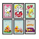 Character Framed Wall Mirrors (Kids/Decoration/Bedroom/Playroom/Xmas/Gift)