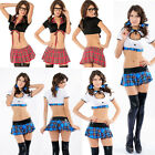 Sweet Women's Cheerleader Uniform School Dress Skirt Costume Outfit Fancy Dress