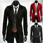 SUPER HOT Mens Winter Warm Long Jackets D-Breasted Trench Parka Pea Coat Outwear