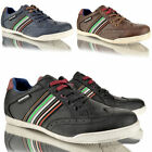 MENS LAMBRETTA CASUAL LACE UP BROGUE SPORTY SNEAKER BROWN TRAINERS SHOES SIZE