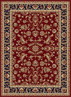 Red Traditional Oriental Bordered Area Rug Multi Vines Leaves Persian Carpet