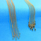 """1P 16-30"""" Wholesale jewelry 18K Gold Filled Beads Ball Chains Necklaces Pendants"""