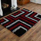 MODERN EXTRA LARGE MEDIUM TIDES RED/ BLACKGREY DESIGN 5CM THICK  BEST COST RUGS