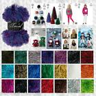 KING COLE TINSEL CHUNKY FUR LIKE KNITTING YARN - FREE BOLERO SCARF SNOOD PATTERN