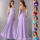 FREE SHIP~ Chiffon Long Prom Maxi  Evening Dress Formal Lady Party Cocktail Gown