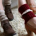 New Girl's Cute Lace knee high Boot Knitting Socks Cuffs Lace trim Hot Sale