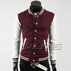 Baseball Varsity Coat Hoodies Fashion Mens Splice Track Jacket Outwear S M L XL