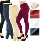 Womens FLEECE LINED HIGH WAIST Thermal THICK Winter FOOTLESS Leggings Tigh
