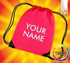 GYM BAG PERSONALISED ANY NAME - DANCE SPORTS SWIM BAG - MANY COLOURS - FREE P&P