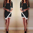 Hot Womens Bodycon Clothing Asymmetric Evening Party Cocktail Sexy Mini Dress
