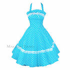 Maggie Tang 50s VTG Pinup Housewife Lace Polka Dots Rockabilly Swing Dress 503