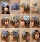 FASCINATOR, SILVER GREY, CHEAPEST ON EBAY, WEDDING, RACES HATINATOR, EVENING LOT