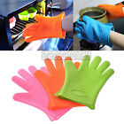 Kitchen Heat Resistant Silicone Glove Oven Pot Holder Baking BBQ Grill Cook Mitt