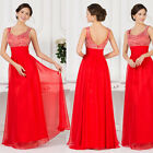 Women Sexy Long Wedding Party Dress Bridesmaid Gown Evening Prom Dresses STOCK