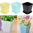 1 / 5pcs Candy Color Flower Pot Square Plastic Planter Nursery Garden Home Decor