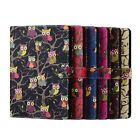 Cute Cartoon Owl PU Leather Wallet ID Case Stand Cover For Apple iPad 4 5 6 Mini