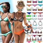 Sexy Womens Waterproof Neoprene Triangle Bikini Push-up Padded Swimsuit Swimwear