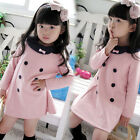 New Fashion Girl's long tops Princess Dress Toddlers Shirt Pink Cotton Tops J04