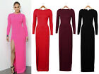 New Womens Plus Size Long Sleeve Maxi Dress Fitted Stretch Jersey Maxi Skirt 2xl