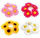 FLOWER BUN RING HAIR SCRUNCHIE ELASTIC GARLAND BAND ROSE OR DAISY FESTIVAL DANCE